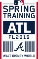Atlanta Braves 2019 Event Logo decal sticker