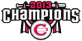 Vancouver Canadians 2013 Champion Logo iron on sticker
