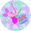 Disney Piglet Logo 23 iron on sticker