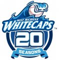 West Michigan Whitecaps 2013 Anniversary Logo decal sticker