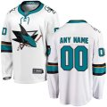 San Jose Sharks Custom Letter and Number Kits for White Away Jersey