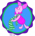 Disney Piglet Logo 09 iron on sticker