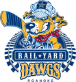 Roanoke Rail Yard Dawgs 2016 17-Pres Primary Logo iron on sticker