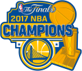 Golden State Warriors 2016-2017 Champion Logo iron on sticker