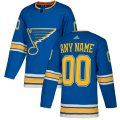 St. Louis Blues Custom Letter and Number Kits for Blue Jersey