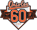 Baltimore Orioles 2014 Anniversary Logo iron on sticker