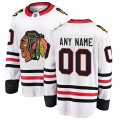 Chicago Blackhawks Custom Letter and Number Kits for White Away Jersey