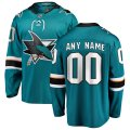San Jose Sharks Custom Letter and Number Kits for Teal Home Jersey