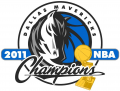 Dallas Mavericks 2010 11 Champion Logo decal sticker