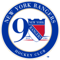 New York Rangers 2016 17 Anniversary Logo decal sticker