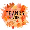 Thanksgiving Day Logo 33 decal sticker