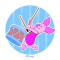 Disney Piglet Logo 18 iron on sticker