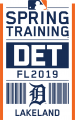 Detroit Tigers 2019 Event Logo decal sticker