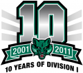 Binghamton Bearcats 2011 Anniversary Logo decal sticker