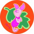 Disney Piglet Logo 04 iron on sticker