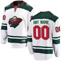 Minnesota Wild Custom Letter and Number Kits for White Away Jersey