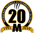 Wisconsin-Milwaukee Panthers 2010 Anniversary Logo iron on sticker