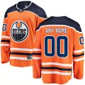 Edmonton Oilers Custom Letter and Number Kits for Orange Home Jersey
