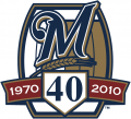 Milwaukee Brewers 2010 Anniversary Logo decal sticker
