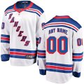 New York Rangers Custom Letter and Number Kits for White Away Jersey