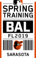 Baltimore Orioles 2019 Event Logo iron on sticker
