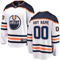 Edmonton Oilers Custom Letter and Number Kits for White Away Jersey
