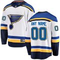 St. Louis Blues Custom Letter and Number Kits for White Away Jersey