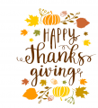 Thanksgiving Day Logo 24 decal sticker