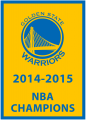 Golden State Warriors 2014-2015 Championship Banner iron on sticker