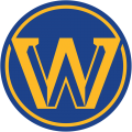 Golden State Warriors 2019-2020 Pres Alternate Logo iron on sticker