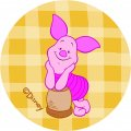 Disney Piglet Logo 22 iron on sticker