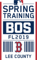 Boston Red Sox 2019 Event Logo decal sticker