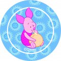 Disney Piglet Logo 16 iron on sticker