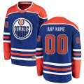 Edmonton Oilers Custom Letter and Number Kits for Blue Alternate Jersey